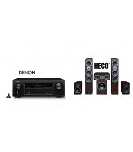 Receiver AV Denon AVR-X3400W cu Set Boxe 5.1 Heco Victa Prime 702, 202, Center 102, Sub252a