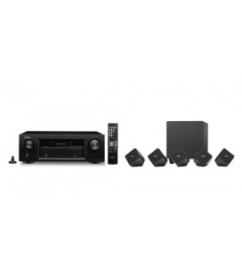 Receiver AV Denon AVR-X540BT cu Set boxe 5.1 surround Denon SYS-2020