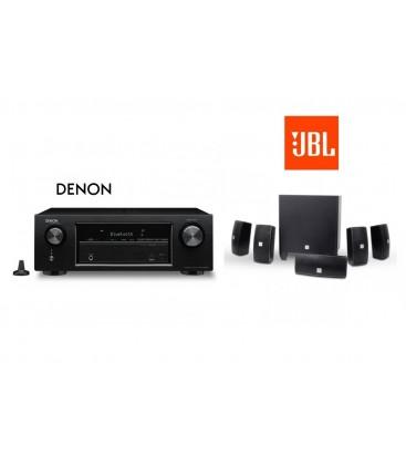 Receiver Denon AVR-X520BT cu set de Boxe 5.1 JBL Cinema 610