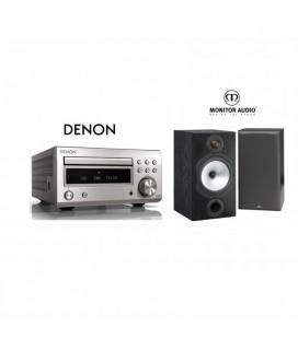 Micro sistem stereo Hi-fi Denon RCD-M41 SILVER cu Boxe Monitor Audio MR2
