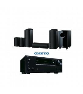 Receiver A/V 7.2 Onkyo TX-NR575E Black cu set de boxe 5.1.2 Onkyo SKS-HT588
