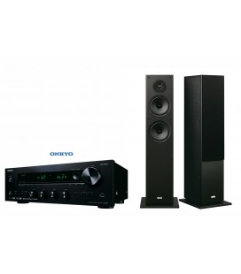 Bluetooth® Receiver Hi-Fi Stereo Onkyo TX-8220 Black cu set Boxe stereo Onkyo SKF-4800