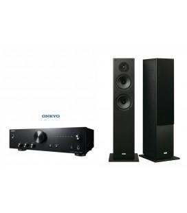 Amplificator Hi-Fi Stereo Onkyo A-9010 Black cu set Boxe stereo Onkyo SKF-4800