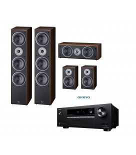 Receiver AV 5.1 Onkyo TX-SR252 Black cu set Boxe 5.0 Magnat Supreme 1002, 102, CENTER 252