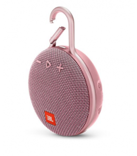 Boxa portabila wireless cu Bluetooth® JBL Clip 3 Dusty Rose, IPX7 Waterproof, baterie 1000mAh