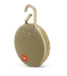 Boxa portabila wireless cu Bluetooth® JBL Clip 3 Desert Sand, IPX7 Waterproof, baterie 1000mAh