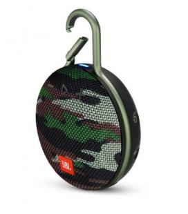 Boxa portabila wireless cu Bluetooth® JBL Clip 3 Squad, IPX7 Waterproof, baterie 1000mAh