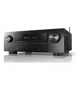 Receiver AV 7.2 Denon AVR-X1500H, 145W per channel, HEOS built-in, Wi-Fi, Airplay, Bluetooth, 4K Ultra HD, Hi-Res