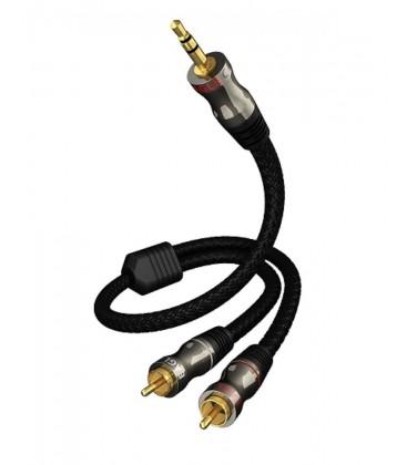 Cablu audio stereo interconect Eagle Cable DeLuxe Audio Jack 3.5mm-RCA 0.8m - bucata