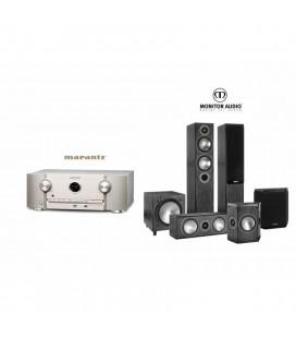 Receiver Marantz SR5013 cu Set Boxe 5.1 Monitor Audio Bronze 5 5.1