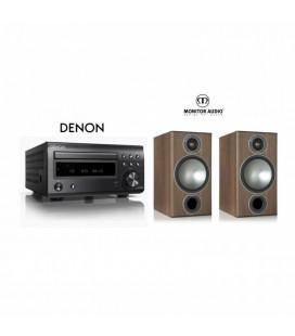Micro sistem stereo Hi-fi Denon RCD-M41 Black cu Boxe Monitor Audio Bronze 2
