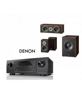 Receiver DENON AVR-X1400H cu Set Boxe 3.1 Magnat Supreme 102, center 252, Sub 202a