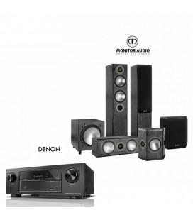 Receiver Denon AVR-X1400H cu Set Boxe 5.1 Monitor Audio Bronze 5 SET 5.1