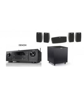 Receiver Denon AVR-1400H cu Set Boxe 5.1 Klipsch Quintet si Subwoofer activ R-8SW