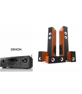Network Receiver AV 7.2 Denon AVR-X1400H cu Set boxe hi-fi 5.0 Jamo S 626 HCS - Dark Apple