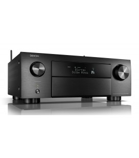 Receiver AV 9.2 Denon AVR-X4500H, 165W per channel, HEOS built-in, Wi-Fi, Airplay, Bluetooth, 4K Ultra HD, Hi-Res