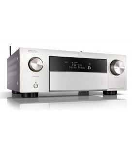 Network AV Receiver 9.2 Denon AVR-X4500H Silver, 165W per channel, HEOS built-in, Wi-Fi, Airplay, Bluetooth, 4K Ultra HD, Hi-Res