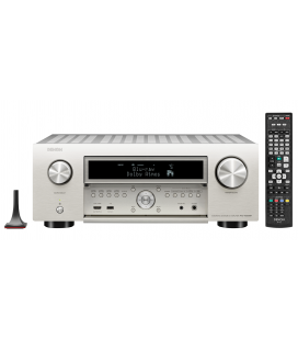 Network AV Receiver AV 11.2 Denon AVC-X6500H Silver, 175W per channel, HEOS built-in, Wi-Fi, Airplay, Bluetooth, 4K Ultra HD