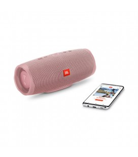Boxa cu Bluetooth® Wireless Portabila JBL Charge 4 Dusty Rose, Baterie 7500mAh, Waterproof IPX7