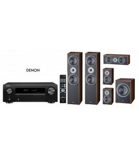 Bluetooth® Receiver AV 5.2 Denon AVR-X250BT cu Set de Boxe 5.1 Magnat Supreme 802,102,252, Sub 202a