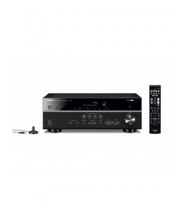 Receiver AV 5.1 Yamaha RX-V385 Black, Bluetooth®, HDMI® 4K UHD, HDR Video, Dolby Vision, Hybrid Log-Gamma, BT.2020