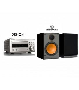 Micro sistem stereo Hi-fi Denon RCD-M41 SILVER cu Boxe Monitor Audio Monitor 100