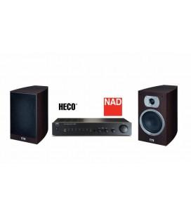 Amplificator NAD C 316 BEE + Boxe Heco Victa Prime 302