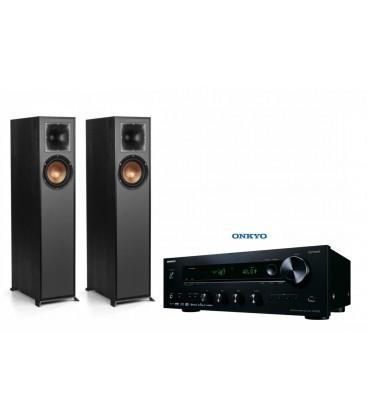 Bluetooth® Receiver Hi-Fi Stereo Onkyo TX-8220 Black cu set Boxe de podea KLIPSCH R-610F PERECHE